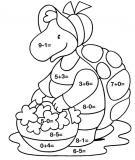 coloriages calcul