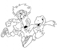 coloriages digimon