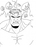 coloriages hulk