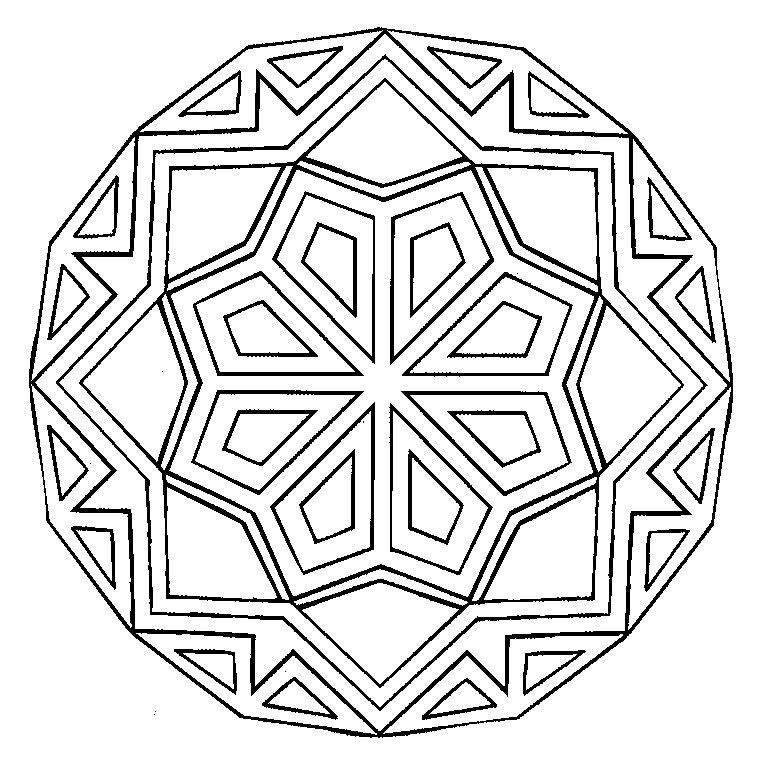 coloriages mandala
