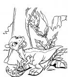 coloriages petit dinosaure