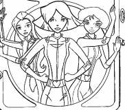 coloriages totally spies