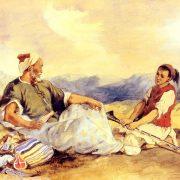 Delacroix - Deux Marocains assis dans la campagne