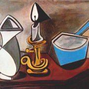 Picasso - Pot, bougie et casserole