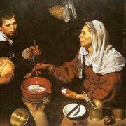 Velasquez - Vieille femme faisant frire des œufs
