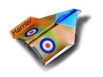 Origami - Pliage avion en papier - Harrier Jet