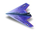 Origami - Pliage avion papier - Le Night Hawk