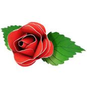 Fleurs en papier - Rose rouge