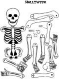 Pantin articulé squelette pour Halloween